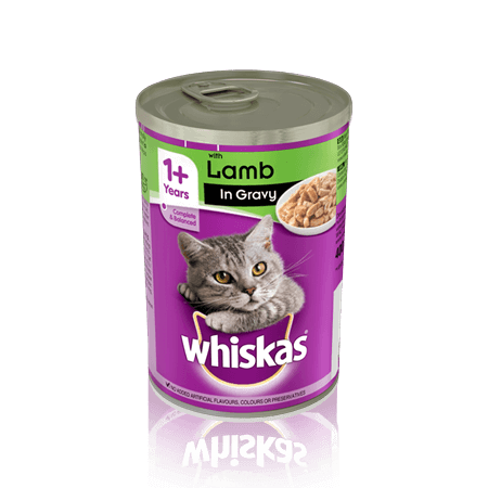 WHISKAS 1+ Can with Lamb in Gravy 400g