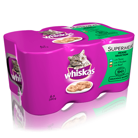 WHISKAS Can in Loaf Mixed Selection 6 x 400g
