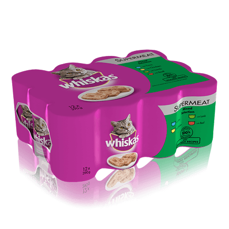 WHISKAS Can in Loaf Mixed Selection 12 x 390g