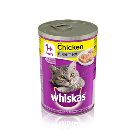 WHISKAS 1+ Can with Chicken in Loaf 390g