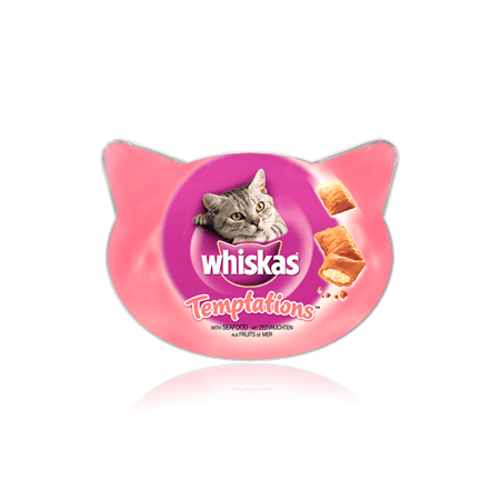 WHISKAS Temptations<sup>TM</sup> with Seafood 60g