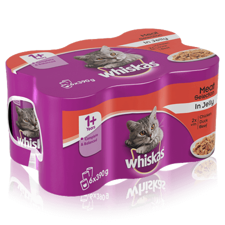 WHISKAS 1+ Can Fish & Meaty Selection in Loaf 6 x 390g (2340g)