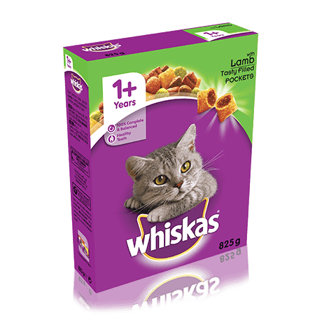 WHISKAS 1+ Cat Complete Dry with Lamb 825g