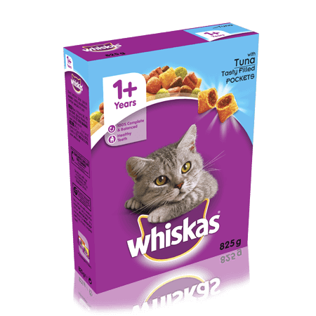 WHISKAS 1+ Cat Complete Dry with Tuna 825g