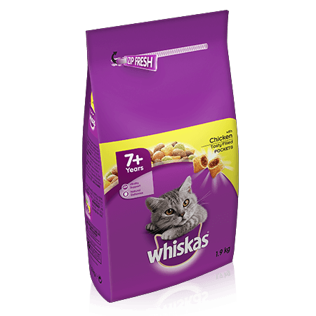 WHISKAS 7+ Complete Dry with Chicken 1.9kg