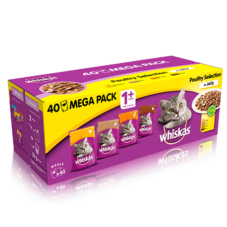 WHISKAS Pouch Poultry Selection in Jelly 40 x 100g