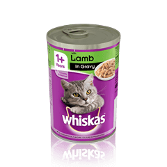 WHISKAS<sup>®</sup> 1+ Can with Lamb in Gravy 400g