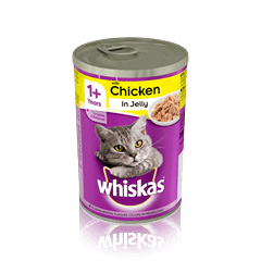 WHISKAS 1+ Can with Chicken in Jelly 390g