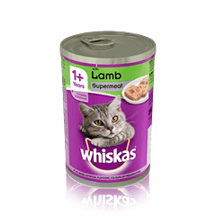 WHISKAS<sup>®</sup> 1+ Can with Lamb in Loaf 390g