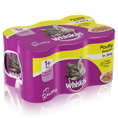 WHISKAS<sup>®</sup> 1+ Can Poultry Selection in Jelly 6 x 390g (2340g)