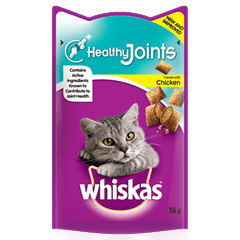 WHISKAS Healthy Joints Cat Treats with Chicken 55g