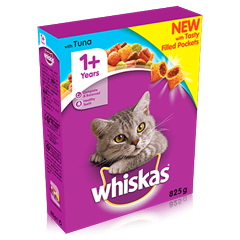 WHISKAS 1+ Cat Complete Dry with Tuna 340g