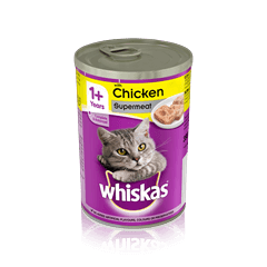 WHISKAS<sup>®</sup> 1+ Can with Chicken in Loaf 390g