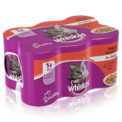 WHISKAS<sup>®</sup> 1+ Can Fish & Meaty Selection in Loaf 6 x 390g (2340g)