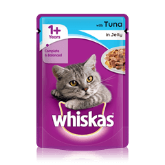 WHISKAS<sup>®</sup> 1+  Tuna in Jelly 100g