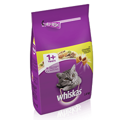 WHISKAS® 1+ Cat Complete Dry with Chicken 1.4kg