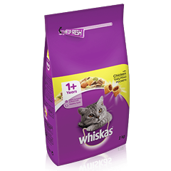 WHISKAS<sup>®</sup> 1+ Cat Complete Dry with Chicken 2kg