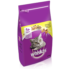 WHISKAS<sup>®</sup> 1+ Cat Complete Dry with Chicken 3.8kg