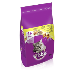 WHISKAS<sup>®</sup> 1+ Cat Complete Dry with Chicken 7kg