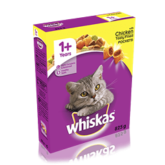 WHISKAS<sup>®</sup> 1+ Cat Complete Dry with Chicken 825g
