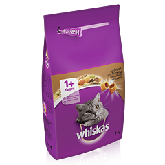 WHISKAS<sup>®</sup> 1+ Cat Complete Dry with Duck & Turkey 2kg
