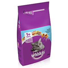 WHISKAS<sup>®</sup> 1+ Cat Complete Dry with Tuna 2kg