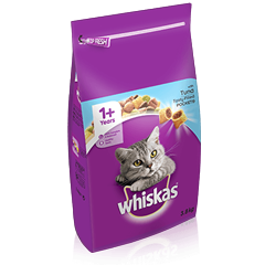 WHISKAS<sup>®</sup> 1+ Cat Complete Dry with Tuna 3.8kg