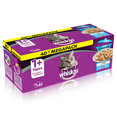 Whiskas 1+ Cat Pouches Casserole Fish Selection in Jelly 40x85g