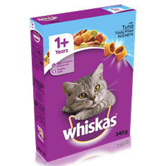 WHISKAS® 1+ Years Complete Dry Cat Food with Tuna 340g