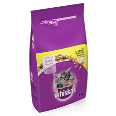 WHISKAS® 2-12 Months Kitten Complete Dry with Chicken 2kg