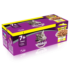 Whiskas 7+ Cat Pouches Casserole Poultry Selection in Jelly 40x85g
