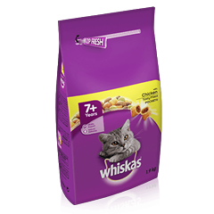 WHISKAS® 7+ Complete Dry with Chicken 1.9kg