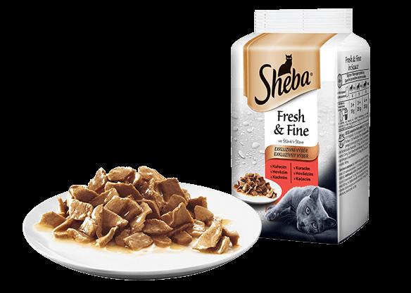 Sheba Fresh & Fine húsos válogatás mártásban