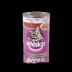 WHISKAS<sup>®</sup> konzerv eledel pulykahússal aszpikban 400g