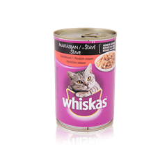WHISKAS<sup>®</sup> konzerv eledel marhahússal mártásban 400g