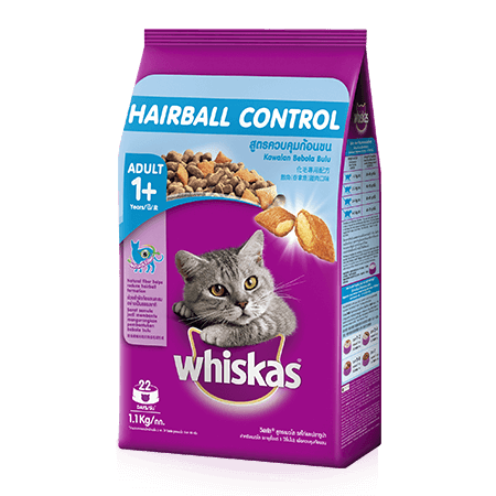 Whiskas<sup>®</sup> Dry Adult 1+ Hairball Chicken & Tuna Flavour