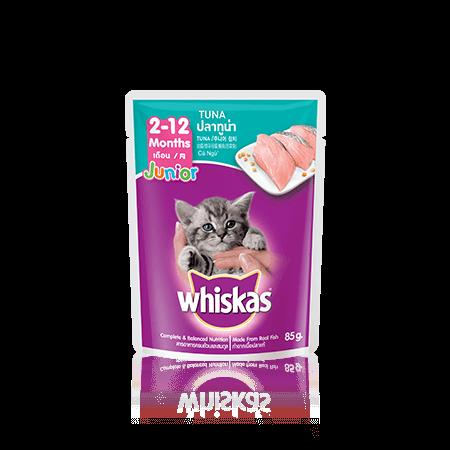 Whiskas Junior Tuna Sachet makanan anak kucing