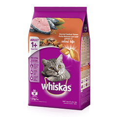 Whiskas® Dry Adult 1+ Gourmet Seafood Flavour