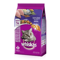 Whiskas® Dry Adult 1+ Mackerel Flavour