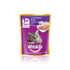 Whiskas Pouch Adult 1+ Mackerel