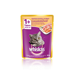 Whiskas Pouch Adult 1+ Seafood Cocktail