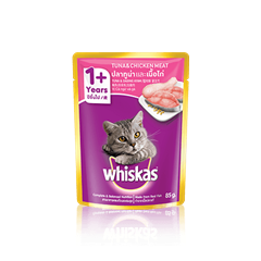 Whiskas® Pouch Adult 1+ Tuna & Chicken Meat