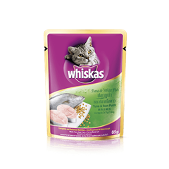 Whiskas Pouch Adult 1+ Tuna & WhiteFish