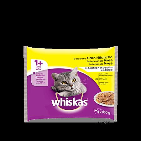 Whiskas 4x100g 1+ Selezione Carni Bianche