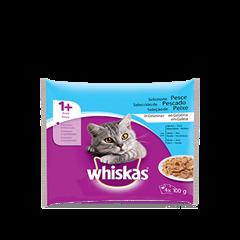 Whiskas® 4x100g 1+ Selezione Pesce