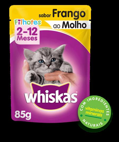 Sachê de Ração úmida para Gatos Filhotes WHISKAS® Sabor Frango ao Molho