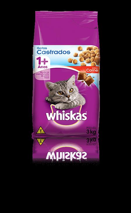 Ração para Gatos Whiskas® Filhotes Sabor Carne e Leite 3kg