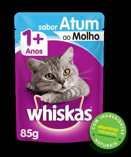 Sachê de Ração úmida para Gatos WHISKAS® Adulto Sabor Atum ao Molho