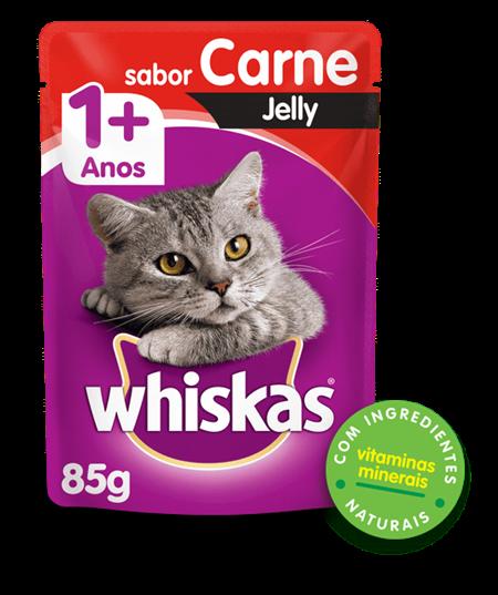 Sachê de Ração úmida para Gatos WHISKAS® Adulto Sabor carne Jelly