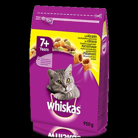 Whiskas 7+ sausas ėdalas su vištiena, 950 g
